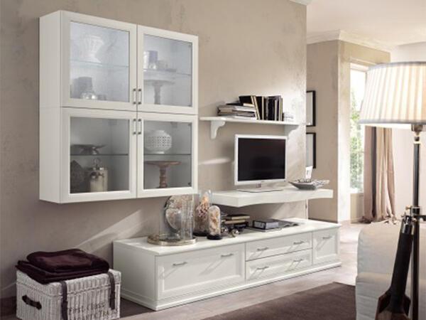 soggiorno classico bianco vintage | Arredamento Mobili ...