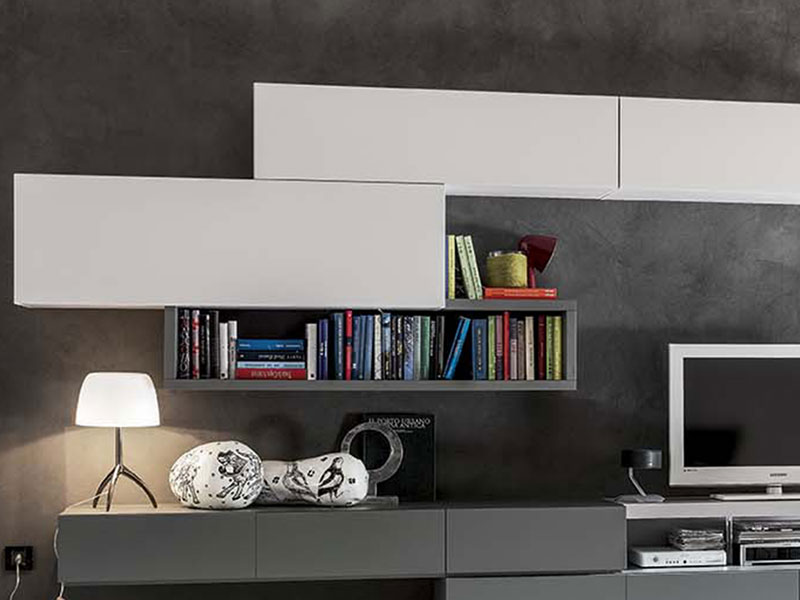 Soggiorno moderno bianco opaco | Arredamento Mobili
