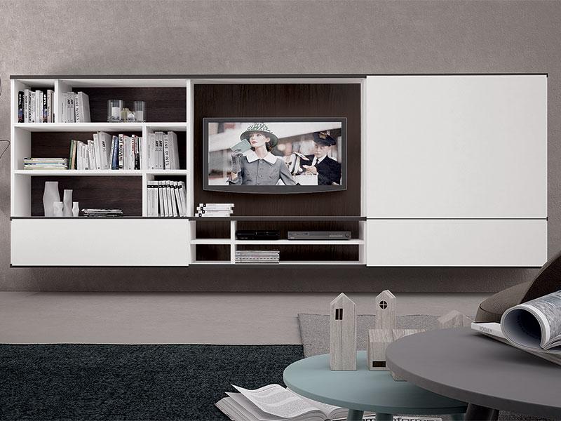 Soggiorno completo con libreria divisoria arredamento mobili