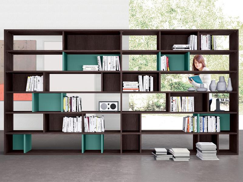 Soggiorno completo con libreria divisoria | Arredamento ...