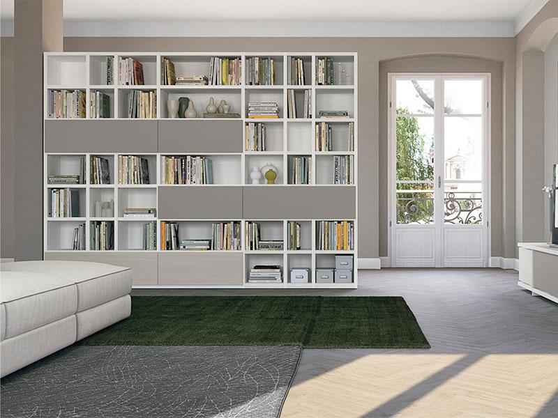 Librerie Per Arredare Soggiorno.Soggiorno Con Libreria Living Arredamento Mobili