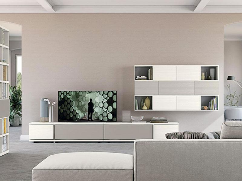 Soggiorno con libreria living | Arredamento Mobili | Arredamento ...