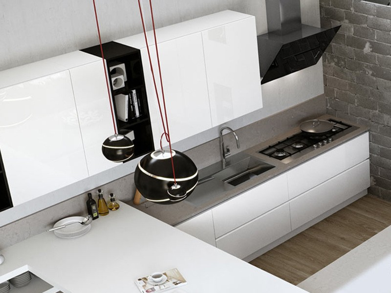 Cucina moderna con penisola arredamento mobili arredamento mobili arredissima - Cucina molecolare milano ...