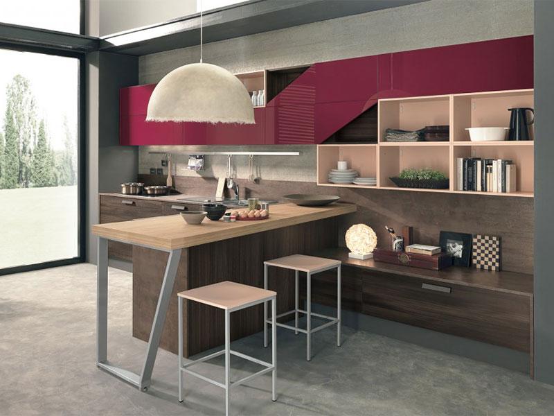 Cucina moderna con soggiorno arredamento mobili for Idee per soggiorno cucina
