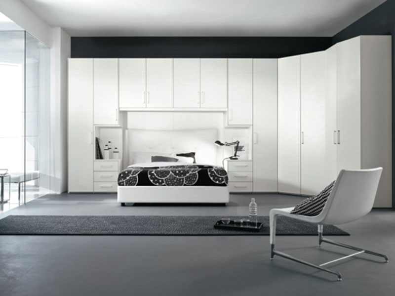 Armadiatura a ponte e cabina arredamento mobili arredissima - Camera da letto a ponte moderna ...