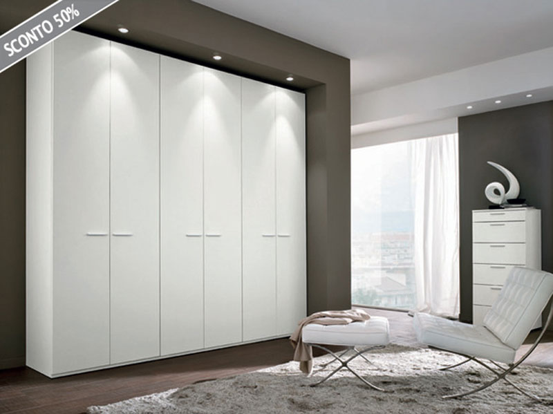 armadio bianco bagno : armadio nibbio armadio a sei ante battenti in finitura bianco opaco la ...