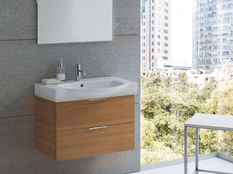 Arredo bagno in noce mobili bagno for Arredo bagno semplice