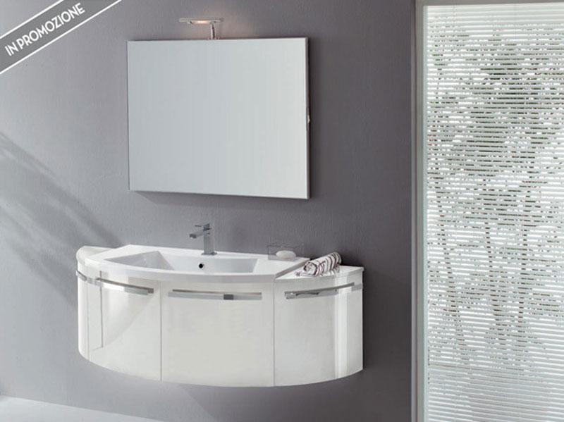 Bagno moderno bianco idee per il design della casa for Arredo bagno bianco