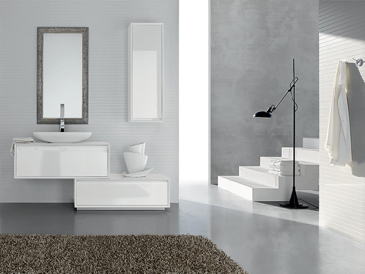 mobili bagno bianco specchiera | mobili bagno - Bagni Eleganti Moderni