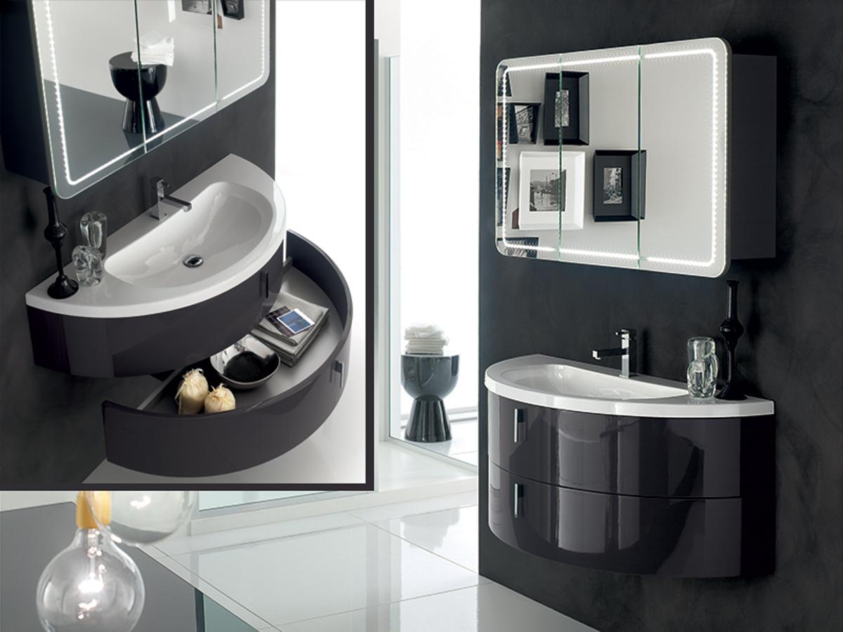 Mobili bagno finitura bianco mobili bagno arredamento for Arredamento bagni