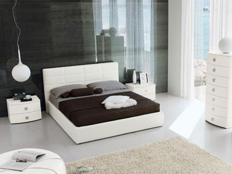 Letto matrimoniale imbottito arredamento mobili arredissima for Camera da letto matrimoniale usata