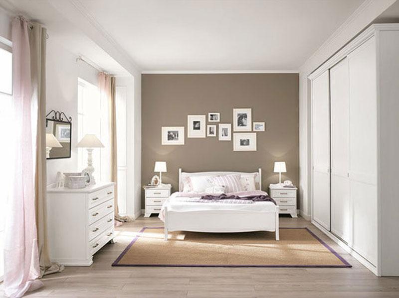 Camera matrimoniale bianca arredamento mobili arredissima for Camere da letto moderne colore olmo