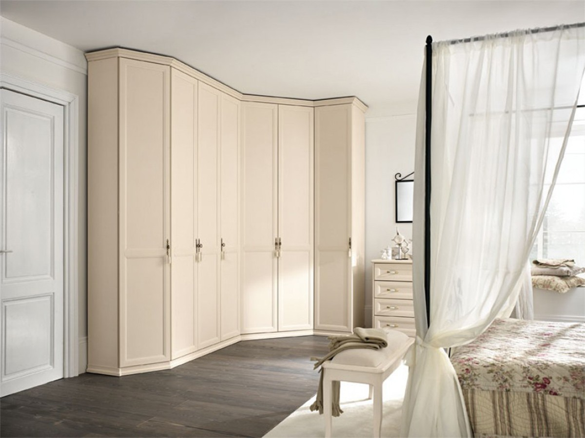 Armadio ad angolo classico retr arredamento mobili - Camera da letto con cabina armadio ad angolo ...
