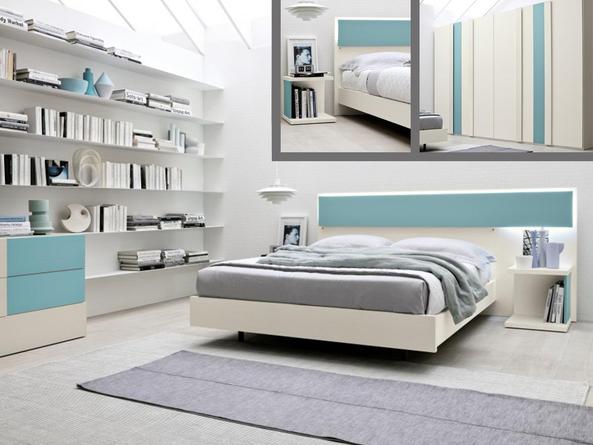Camera matrimoniale arredamento mobili arredissima - Camere da letto con libreria ...