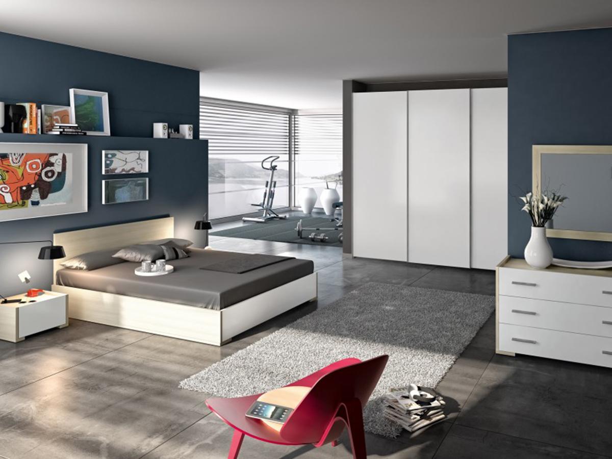 Camera matrimoniale bianca arredamento mobili arredissima - Camera da letto bianca laccata ...