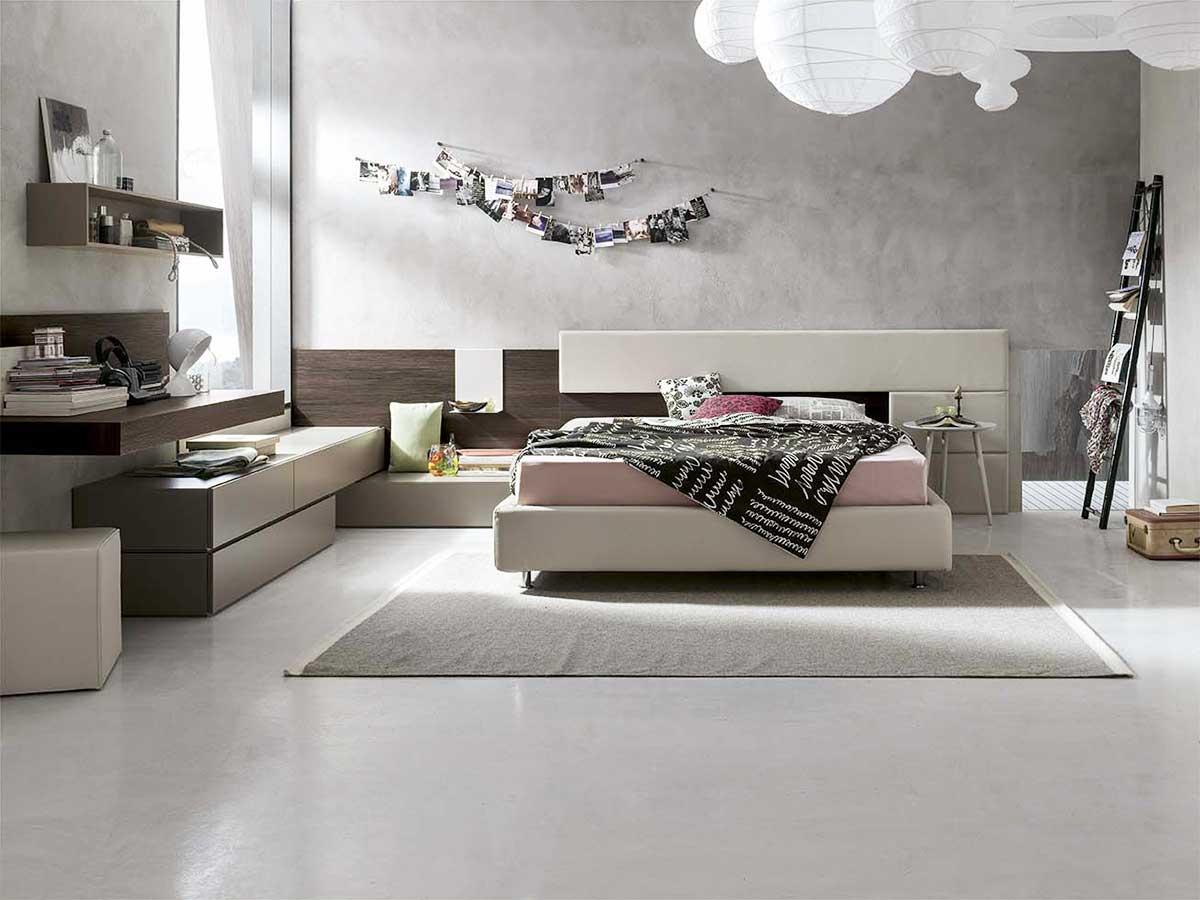 Camera completa moderna arredamento mobili arredissima for Camere da letto deco mobili