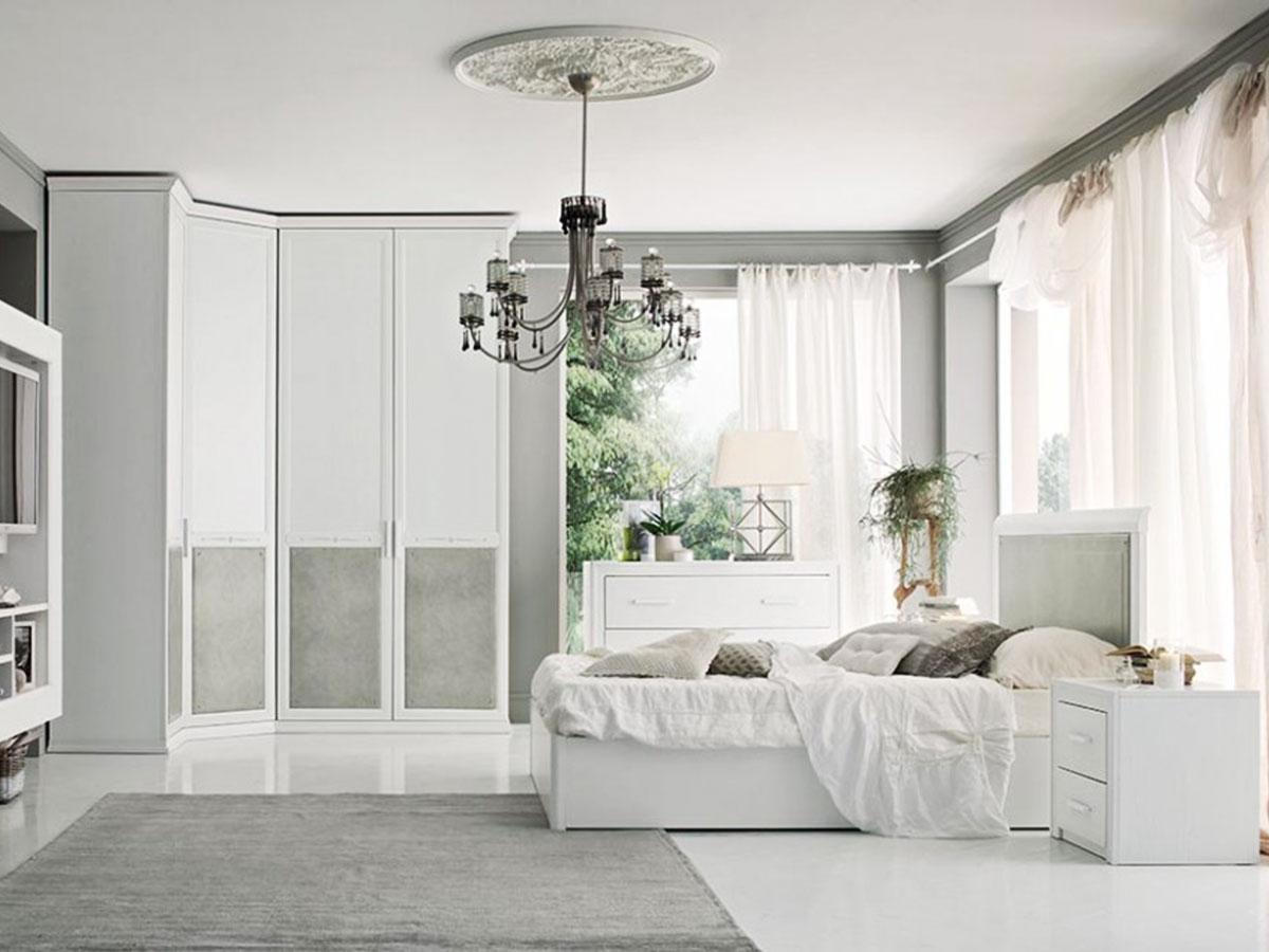 Camera matrimoniale vintage chic arredamento mobili arredissima - Camere da letto veneto ...