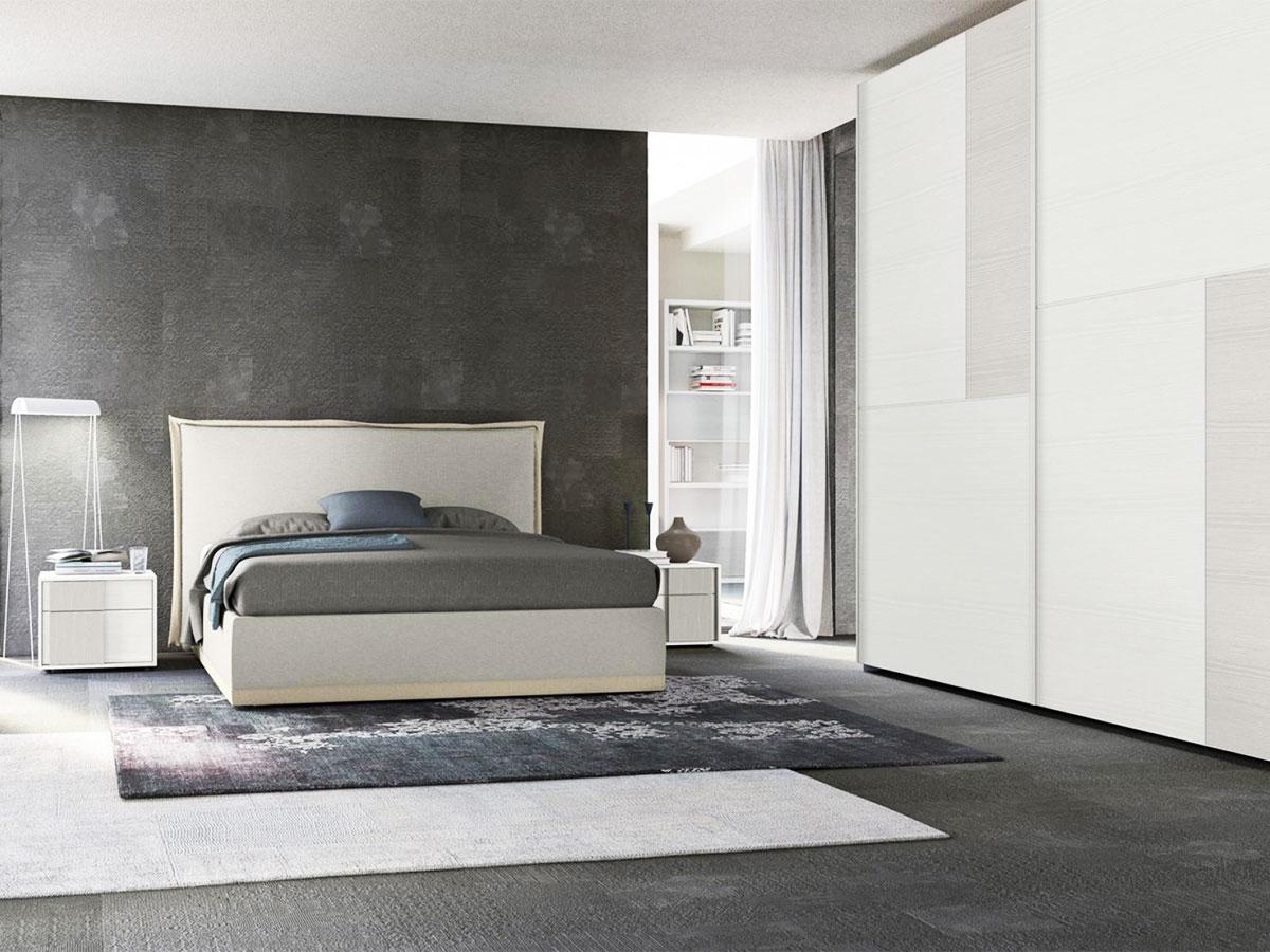Letto matrimoniale imbottito arredamento mobili arredissima for Camere da letto arredate da architetti