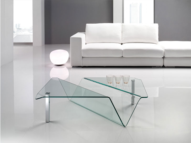 Tavolino moderno in vetro arredamento mobili arredissima for Complementi d arredo moderno