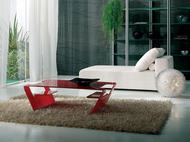 Salotti Moderni Rossi : Tavolino da salotto rosso arredamento mobili arredissima
