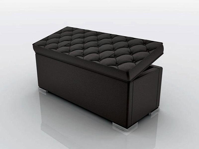 Panca Contenitore Bianca : Panca contenitore ecopelle nera arredamento mobili arredissima