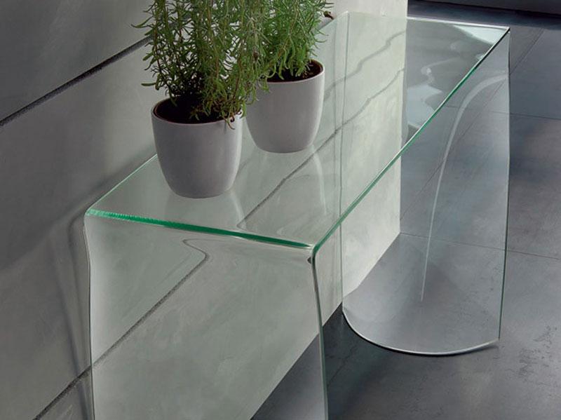 Ingresso tavolino in vetro arredamento mobili arredissima for Consolle in vetro per ingresso