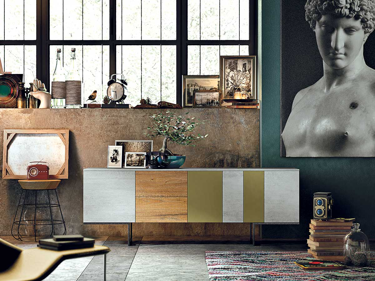 Credenza Moderna Vetro : Madia moderna arredamento mobili arredissima