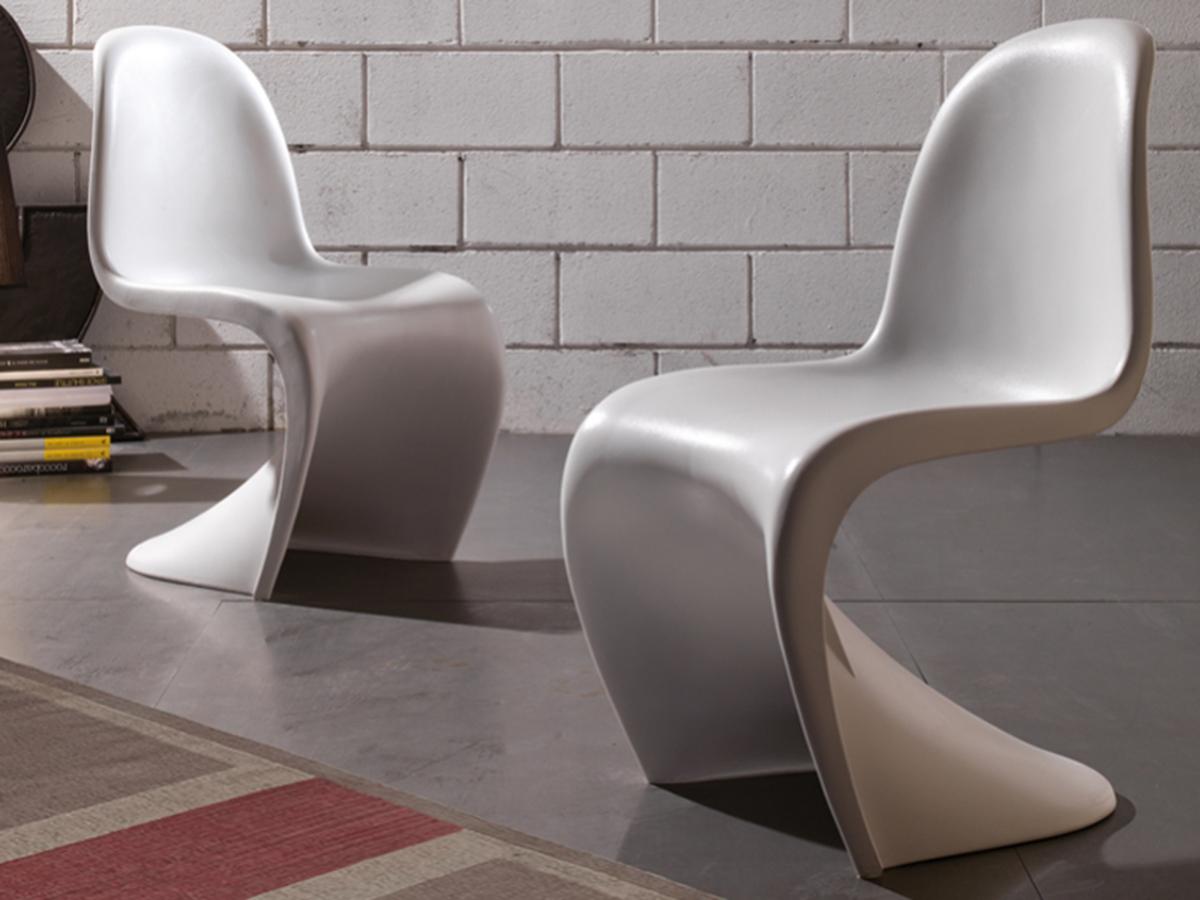 Sedia in polipropilene bianca arredamento mobili arredissima for Sedia design bianca