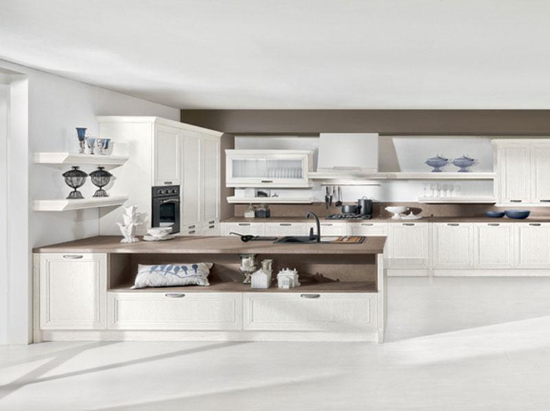 Cucina Classica E Moderna Con Isola Fossano Cucina Classica Bianco E Pictures...