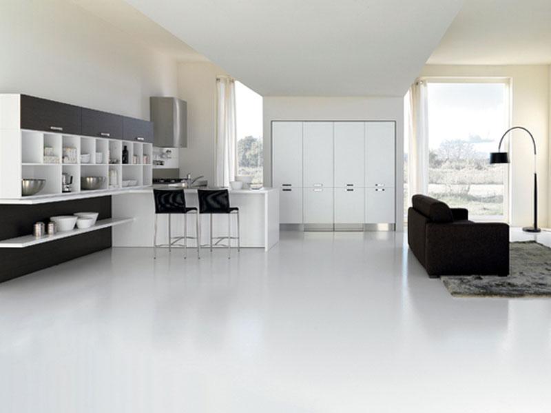 Cucine Moderne Lineare : Cucina Moderna Lineare Con Colonna Forno ...