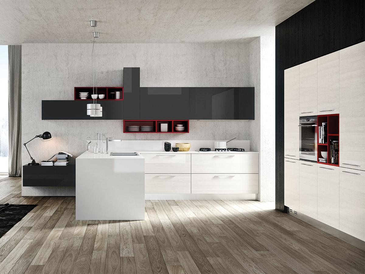 Cucina moderna arredamento mobili arredissima for Oggetti per cucina moderna