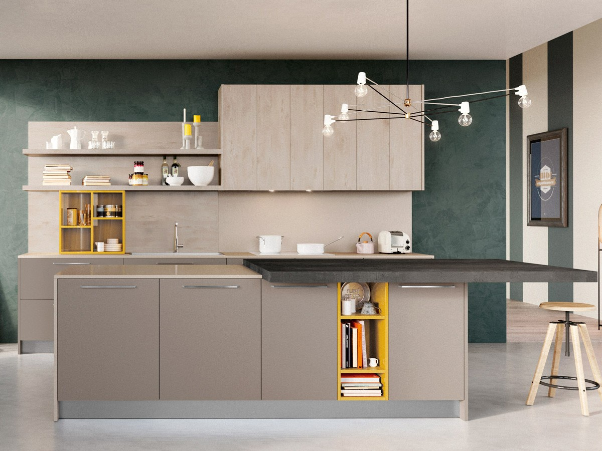 Cucina con isola moderna arredamento mobili for Arredamento