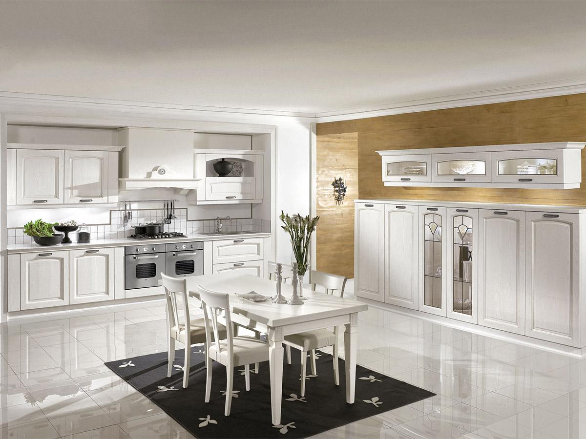 Cucina classica cucina in rovere bianco arredissima for Sedie per cucina classica
