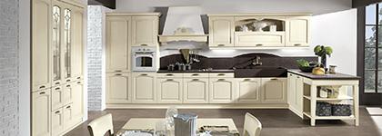 Cucina in rovere bianco