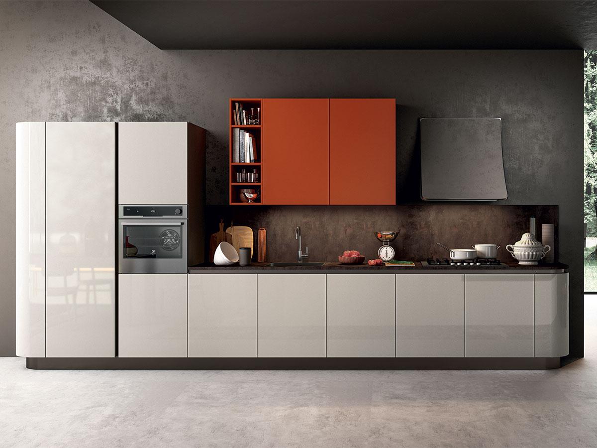 Cucina moderna con anta curva arredamento mobili arredissima - Mobili da anticamera che riflettono ...