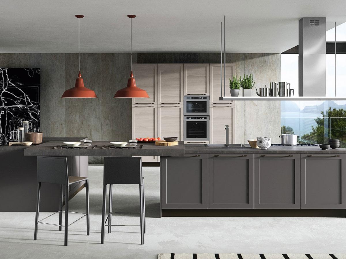Cucina moderna con doppia isola arredamento mobili for Arredo cucina moderna