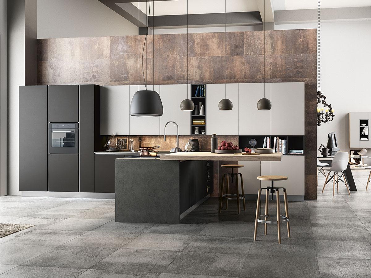 Cucina design con penisola arredamento mobili for Arredo cucina design