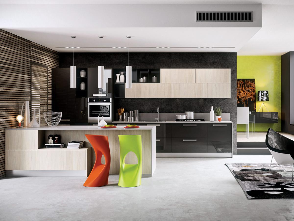 Cucina Open Space Moderna cucina lineare moderna open space, arredo | arredamento