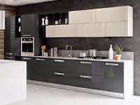 Cucina lineare moderna open space, arredo
