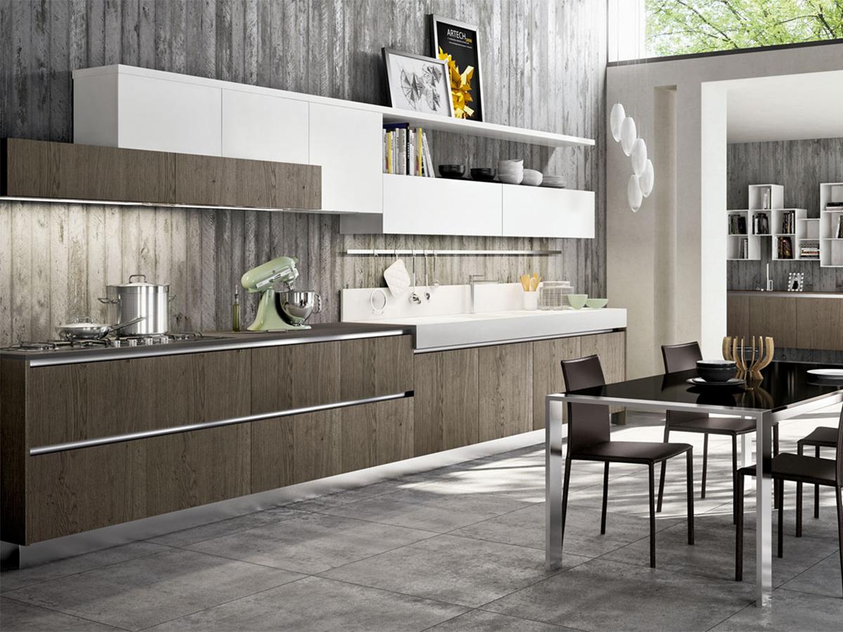 Cucina lineare design moderno arredamento mobili arredissima - Cucine lineari moderne ...