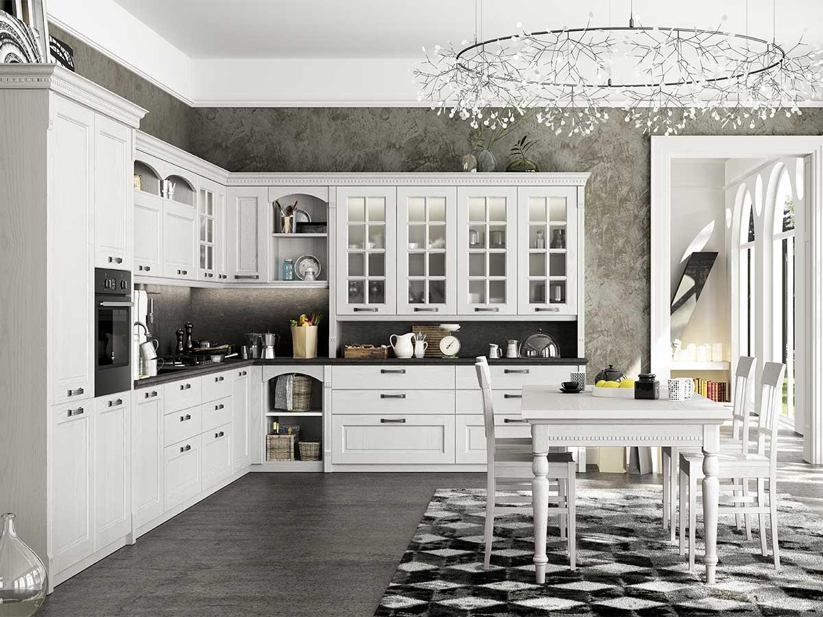 Cucina classica shabby chic arredamento mobili - Arredamento cucina classica ...