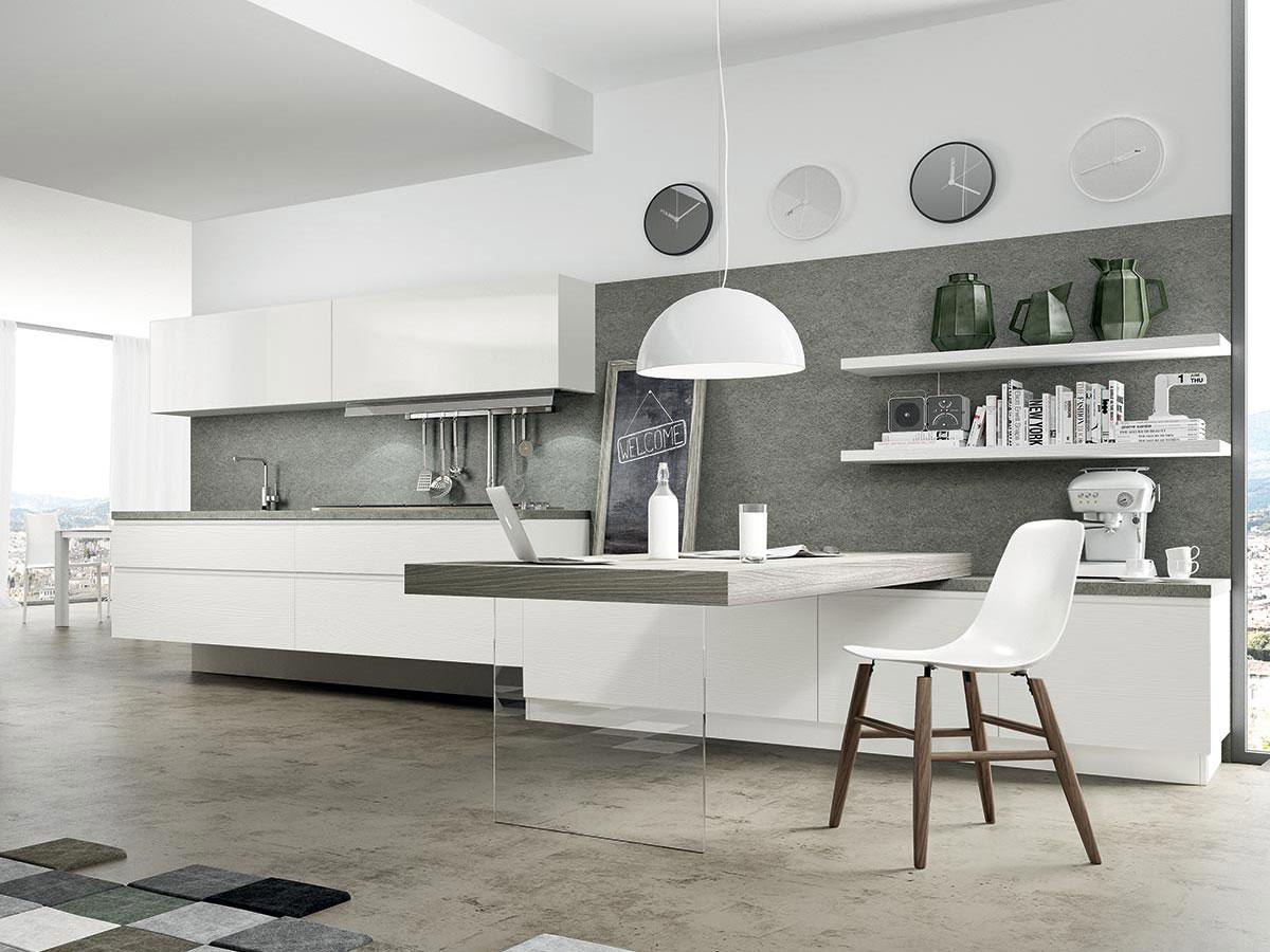 Cucina bianca moderna | Arredamento Mobili