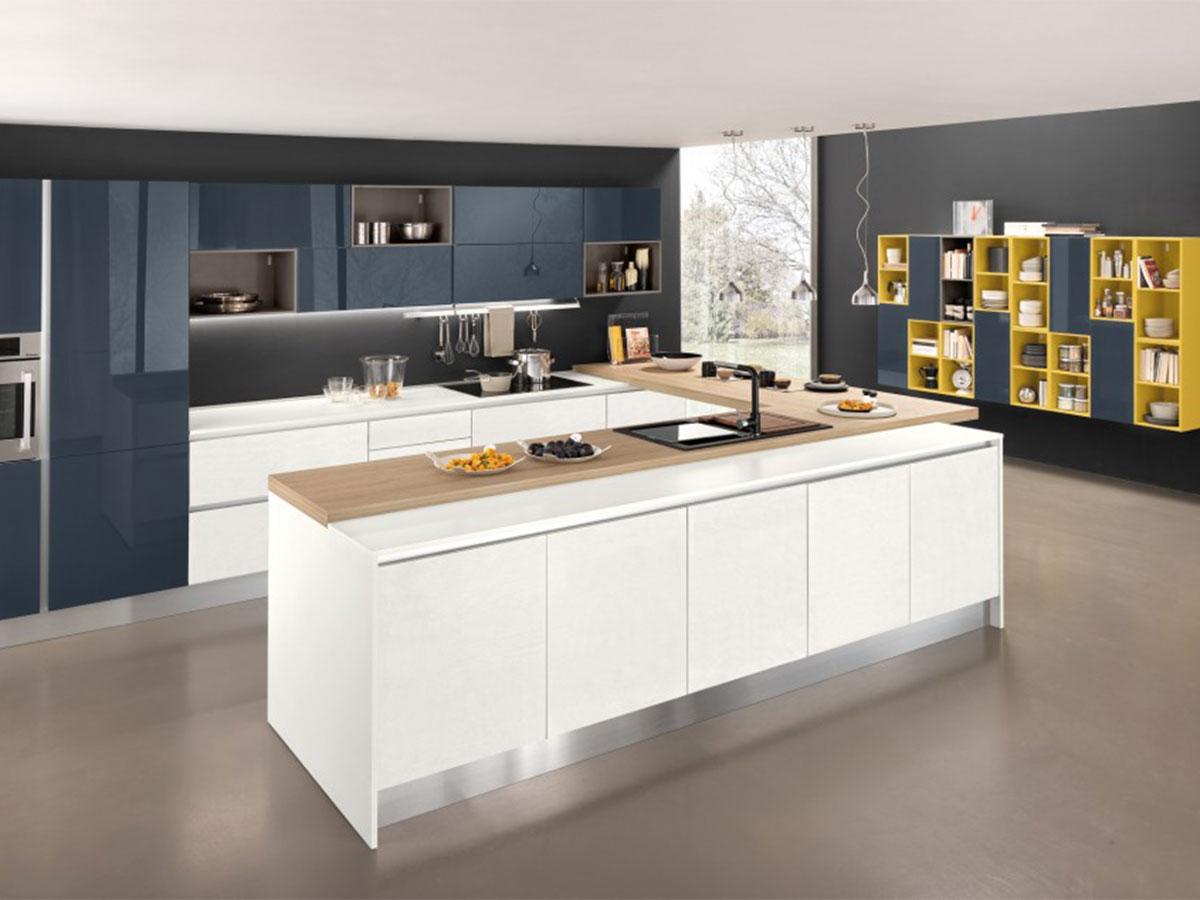 Cucina moderna con penisola arredamento mobili arredissima for Cucine moderne con penisola