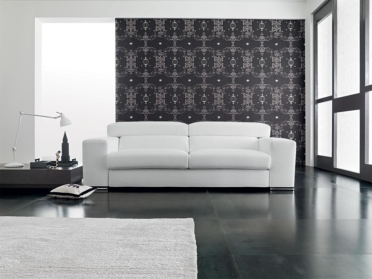 Divano moderno in pelle arredamento salotto for Arredamento divani