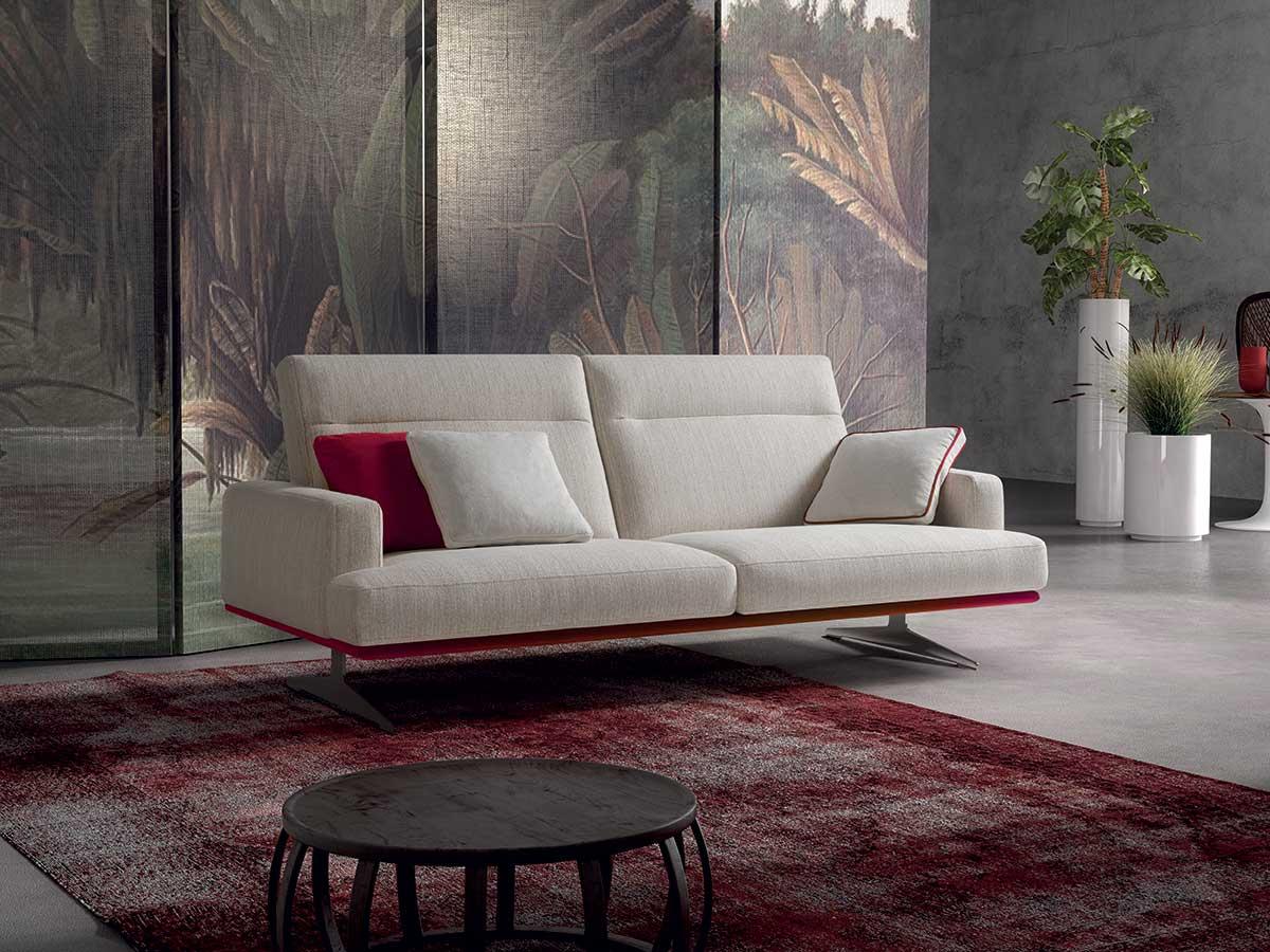 Divano slim arredamento mobili arredissima for Salotti minimal