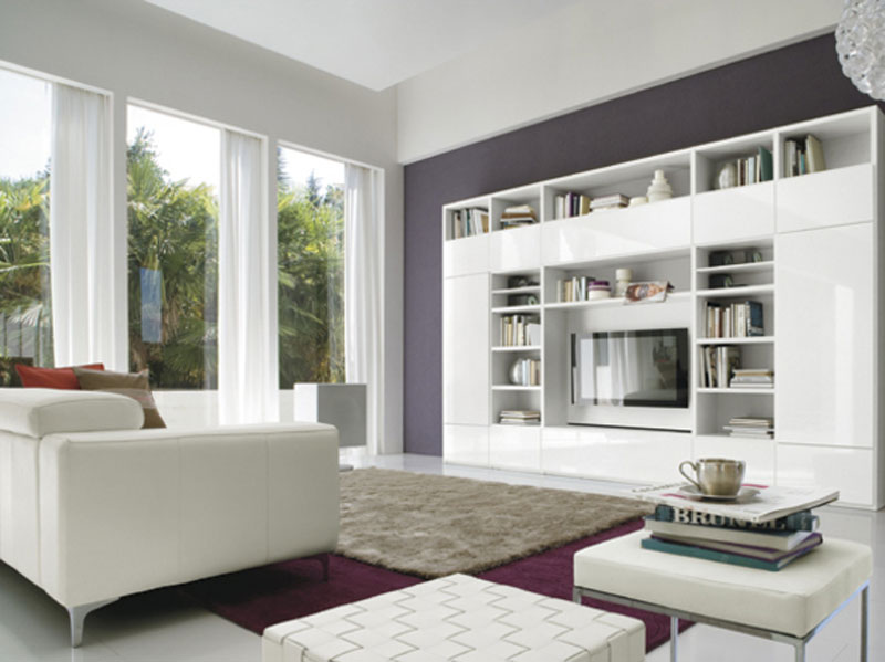 Soggiorno bianco classico arredamento mobili arredissima for Soggiorno living