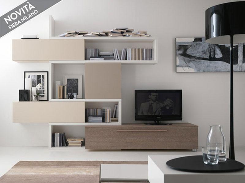 Soggiorno moderno larice arredamento mobili arredissima for Immagini mobili soggiorno moderni