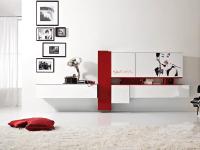 Soggiorno moderno con decorazione arredamento mobili