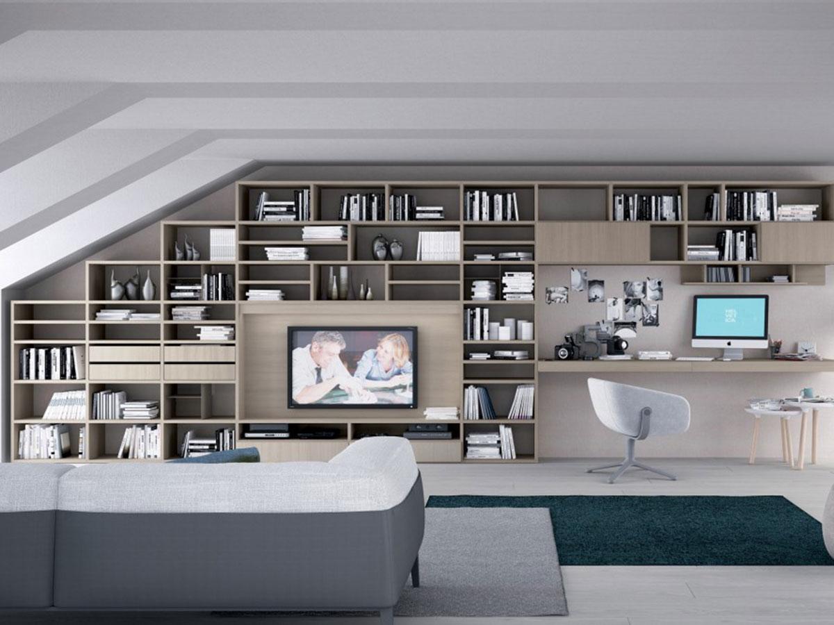 Soggiorno moderno componibile arredamento mobili for Soggiorni e salotti