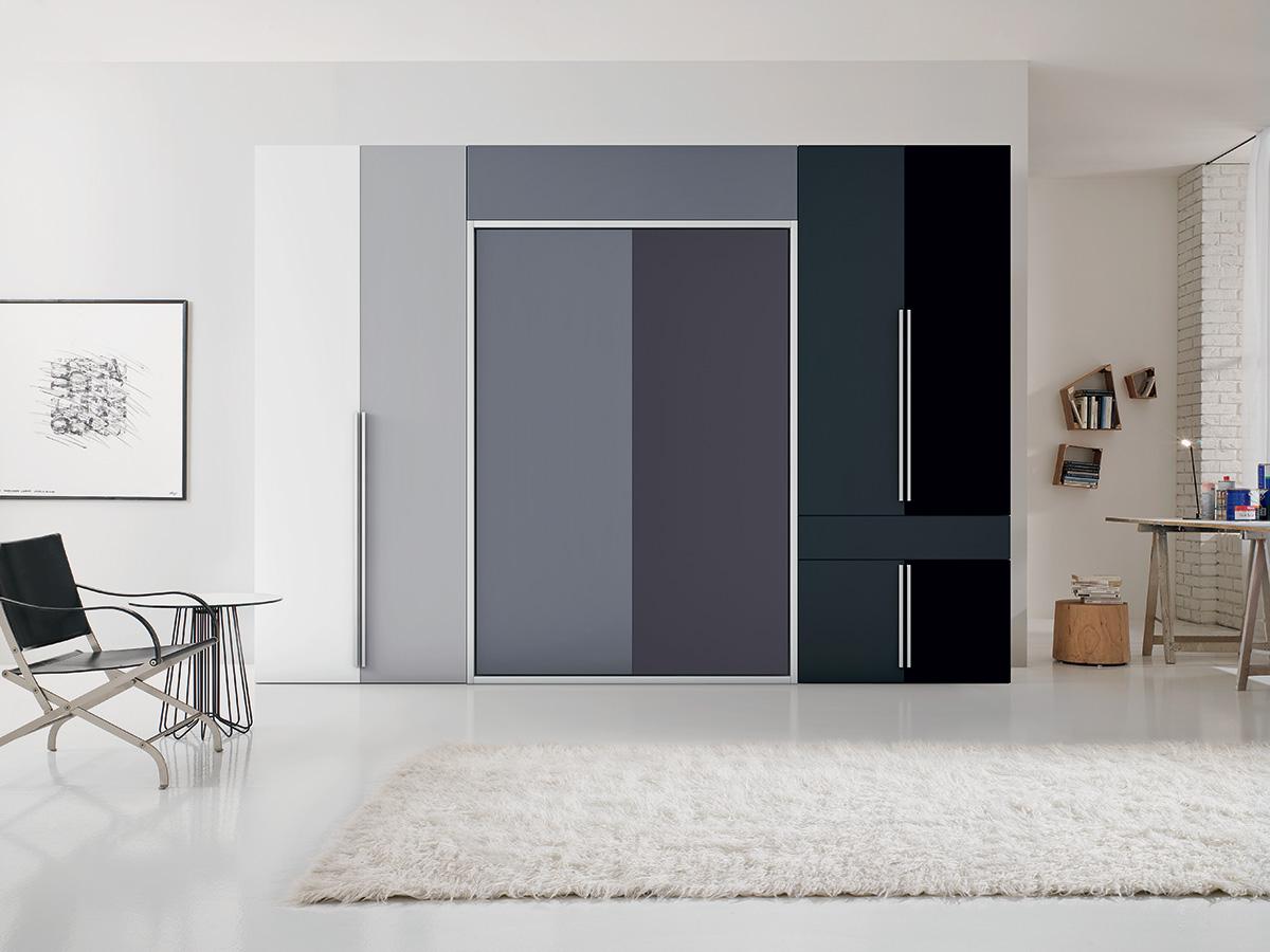Soggiorno trasformabile arredamento mobili arredissima for Soggiorni bianchi moderni